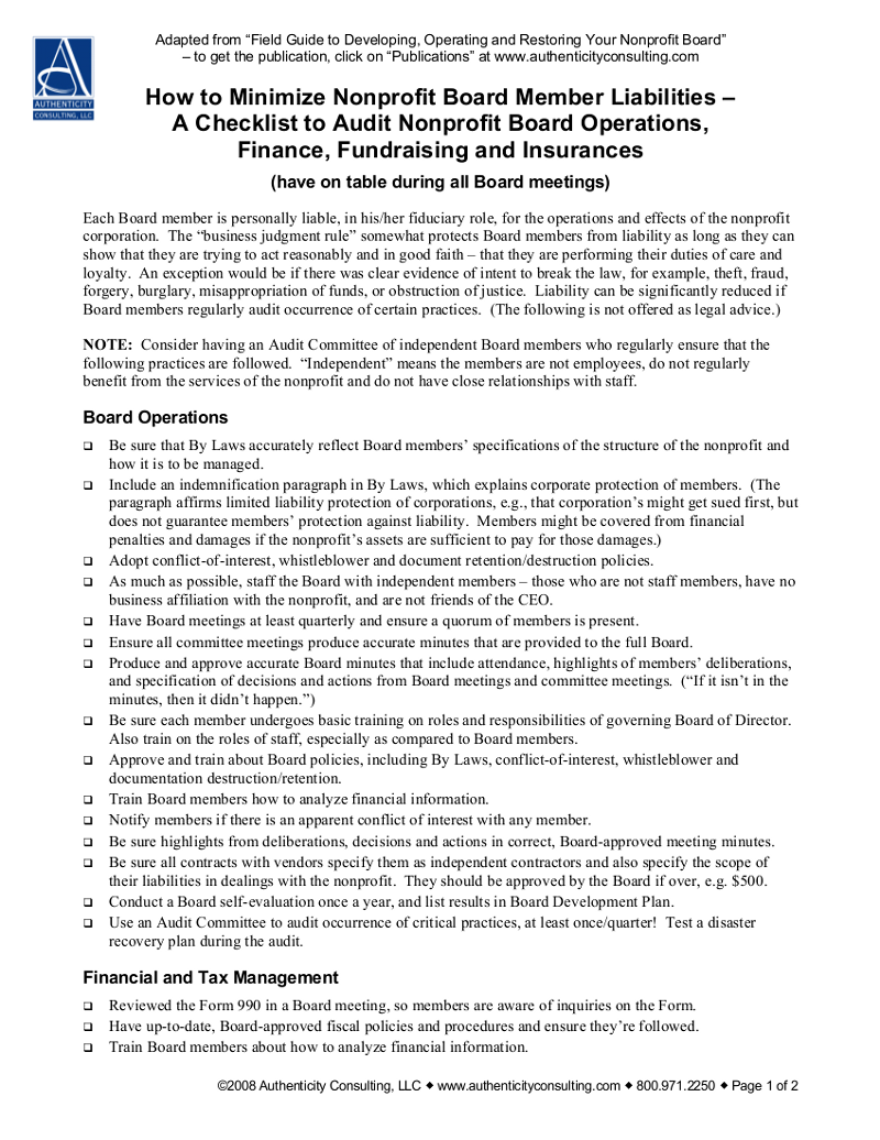 Lsoa nonprofit liabilities falaconquin